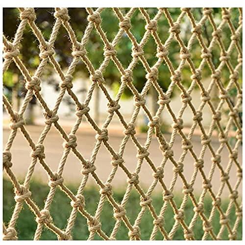 LAOHETLH Red De Seguridad Infantil Cuerda De Cáñamo Escalera Balcón Protección Red Red De Escalada Cuerda Valla Decoración Red Techo De Pared Tejido A Mano Red Retro Bar(Size:1 * 6m(3 * 20ft))