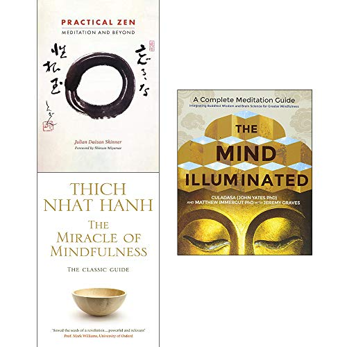 Price comparison product image Mind Illuminated,  Practical Zen,  Miracle of Mindfulness 3 Books Collection Set