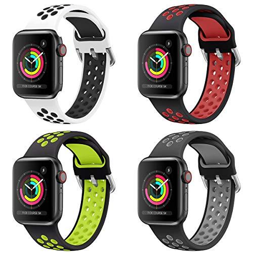 Sycreek Cinturino in Silicone Modello Compatibile per Apple Watch 38mm 40mm 42mm 44mm Uomo Donna,Cinturino di Ricambio Impermeabile Leggero Compatibile con iWatch Series 6 5 4 3 2 1 SE