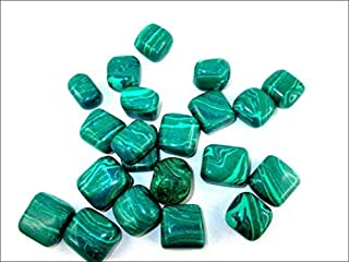 Jet Malachite Tumbled Stone 100 Grams A++ Approx. 0.75 to 1inch High Grade Jet International Crystal Therapy Booklet Image is JUST A Reference
