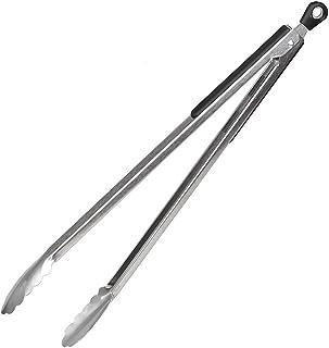 inox et embouts en silicone noir et gris pince de service Zyliss ZE42033 Pince de cuisine et barbecue