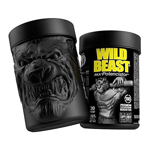Wild Beast Potenciador de Testosterona 180 cps, Rendimiento muscular, Maca, Fenogreco, Ácido D-Aspártico, Tribulus, Zinc, Vigorizante, Potenciador del deseo, Booster, Aumento Testosterona.