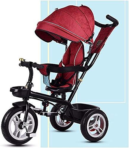 GSDZSY - Kinder-Dreirad, Verstellbarer Lenker Und Sitz, Eva-Reifen Gummireifen, Rahmen Aus Hochwertigem Stahl, 1-6 Jahre Alt