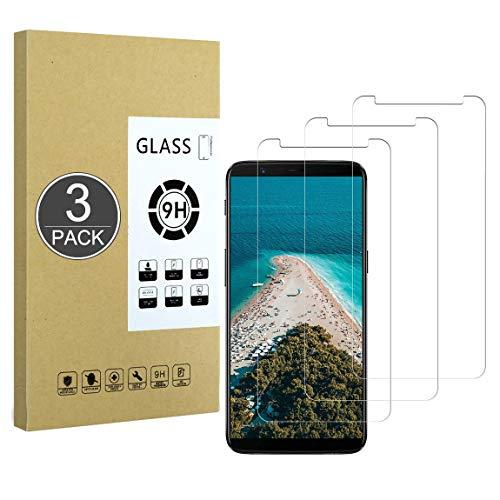 E-Hamii [3 Pièces Verre Trempé Incassable 9H Compatible avec OnePlus 5T,[Cristal HD Clair] 0.33mm Protecteur D'écran pour OnePlus 5T