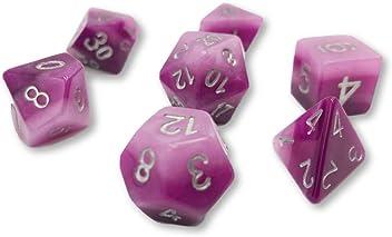 Gradient checkered dice\uff0cDnd Dice\uff0c Metal Dice set\uff0cdungeons and dragons dice gift\uff0c7 Pieces Zinc Alloy Dices Set\uff0cFeatured dice\uff0c