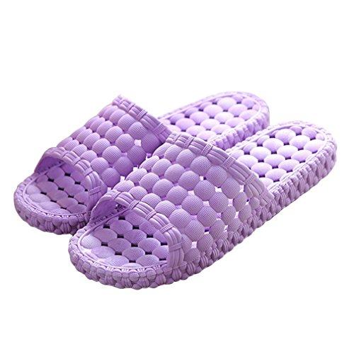 Matari Womens Mens Indoor Bathroom Shower Solid Slide-on Slippers Poolside Shoes (7.5-8.5...