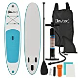 [in.tec] Stand Up Paddle Board 305x71x10cm Türkis Surfboard SUP Paddelboard Wellenreiter aufblasbar