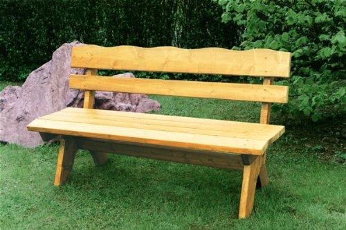 TPFGarden Holzbank DRIEBURG 150cm 3-Sitzer aus Kiefer Massiv Farbe: Hellbraun