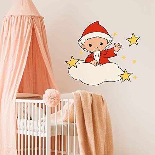 Wolkensticker Wand Sterne selbstklebende Babyzimmer Deko Mädchen Wandtattoo Sandmann