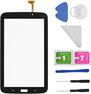 Black Touch Digitizer Screen Replacement for Samsung Galaxy Tab 3 7.0 SM-T210 T210R T210L T217S 217A(WIFI Ver.No Speaker Hole) + PreInstalled Adhesive with tools