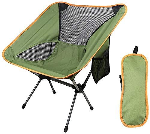Retour haut extérieur Pêche Camping pliante avec chaises de poche robuste capacité portable Chaises de jardin for Park Beach Sports Events, Couleur: orange (Color : Green)