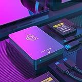 CFexpress-Kartenleser Type A USB 3.1 Gen 2 10-Gbit/s CFexpress-Lesegerät Tragbarer CFexpress-Speicherkartenadapter Thunderbolt 3-Port-Unterstützung Android/Windows/Mac OS/Linux Inklusive Zwei Kabel