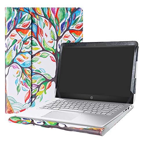Alapmk Protective Case Cover for 14' HP Pavilion 14 14-bkXXX (14-bk000 to 14-bk999,Such as 14-bk061st 14-bk063st) Series Laptop[Warning:Not fit Pavilion 14 14-bXXX 14-abXXX 14-bfXXX],Love Tree