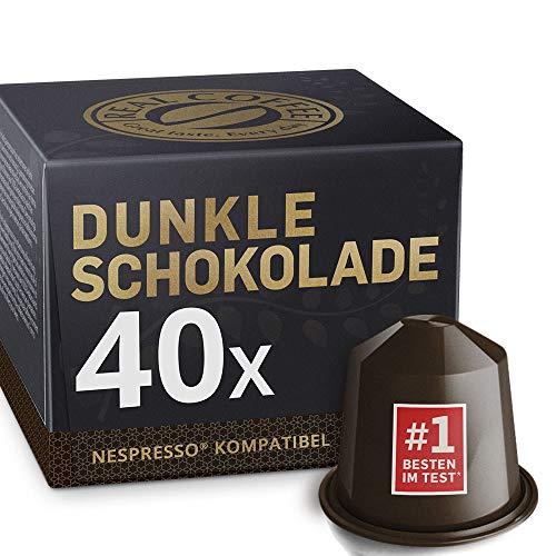 Dunkle Heiße Schokolade für Nespresso. Dunkler und intensiver Geschmack. 40 kompatible Kapseln.