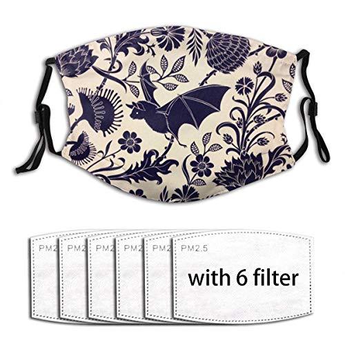 Mundschutz Fledermaus Lotus Flower Anti Staub verstellbare Outdoor Cosplay Kostüm Gesicht Abdeckung Tuch mit Filterpapier
