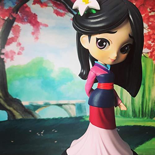 Q Posket Disney Characters Mulan (1998) Figure FA Mulan QPosket Principesse Aurora Cenerentola Ariel Rapunzel Belle Jasmin Biancaneve Alice