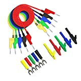 Prueba multímetro de plomo Kit de enchufe de plátano Cables de prueba oficina en casa P1036A 4mm multímetro kit de sondas dobles Final de pruebas de cable SetFor