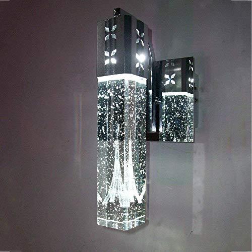 Kristallen wandlamp, led-wandlamp, 4 W, dimbaar, modern, creatief design, metaal, chroom, transparant, kleur kunst, decoratie, wandlamp, gebruikt voor woonkamer, restaurant, slaapkamer, gang, verlichting