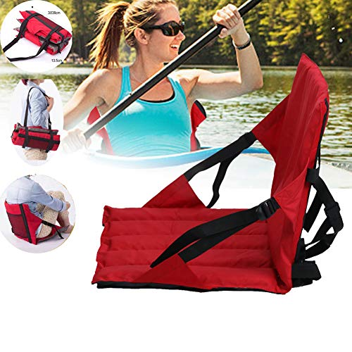 evergremmi Asiento de Kayak para Botes, Canoa, para Tabla Sup, Correas Ajustables, Asiento cómodo y portátil con Acolchado en la Espalda para el Kayak-anufahren-Fies de tamaño para el cañón de Kayak