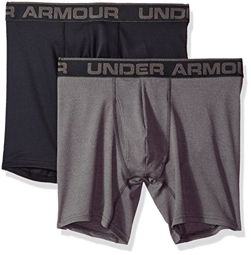 Under Armour Men's Mesh Series 6-inch Boxerjock 2-Pack, Black (001), XX-Large