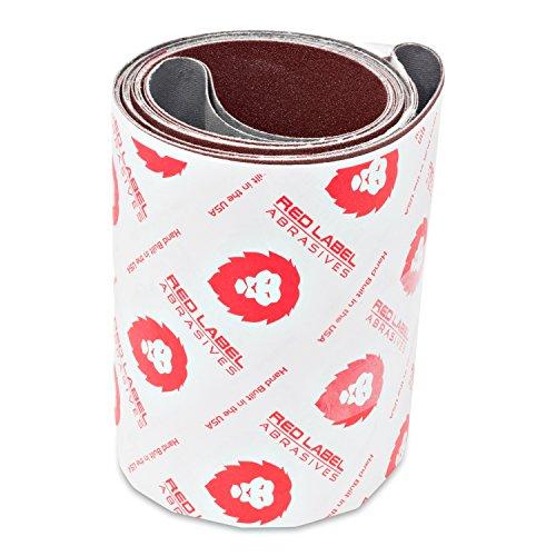 Red Label Abrasives 6 X 80 Inch 80 Grit Aluminum Oxide Premium Quality Multipurpose Sanding Belts, 2 Pack
