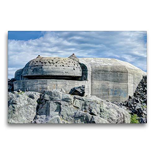 CALVENDO Premium Textil-Leinwand 75 x 50 cm Quer-Format Heeresküstenbatterie Syre, Norwegen, Leinwanddruck von Andre Bruhnke