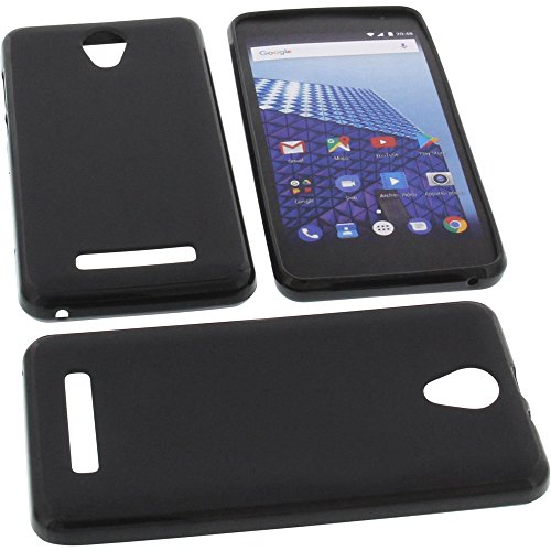 foto-kontor Tasche für Archos Access 50 Color 3G Gummi TPU Schutz Handytasche schwarz