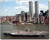 Fotodruck USS John F Kennedy Flugzeugträger NYC 20 x 25 cm