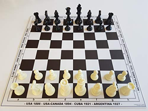HenRal Schachbrett schachspiel Schach Set Schach Chess Set: Unique Design Eco Chess Board Countries + Pieces. Field 40mm, Brown - EINZIGARTIGES KLAPPBAR SCHACHBRETTSPIEL Set N4 BRAUN