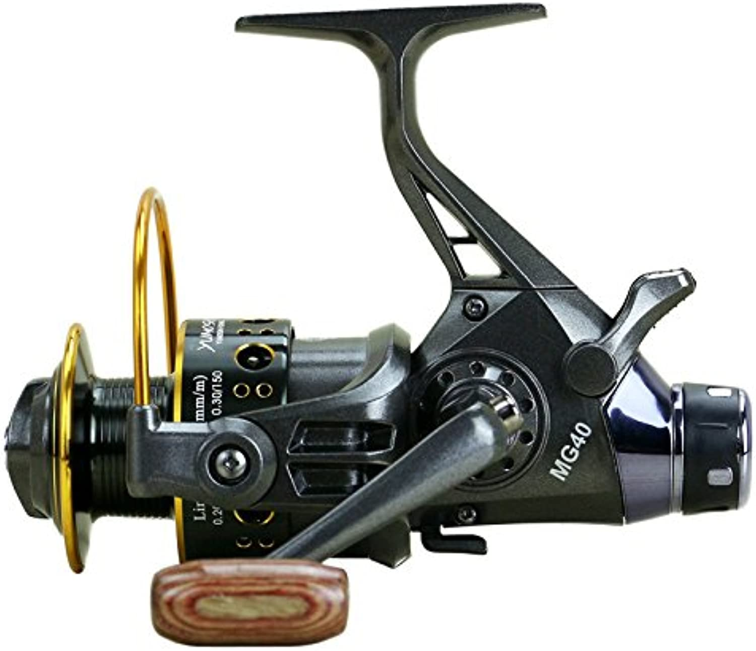Fishing Reel Spinning Fishing Reel Left Right Interchangeable Handle for Fishing Gear Ratio 5.0 1 with Double Drag Brake System for Bait Fishing Action (Size   6000)