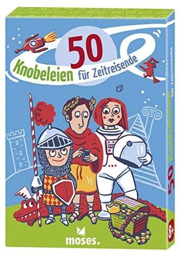 Moses. 30243 50 Knobeleien für Zeitreisende | Kinderbeschäftigung | Kartenset ab 8 Jahren, Mehrfarbig