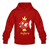 Magikarp Very Red Long Sleeve Hoodies For Teenagers Size XL