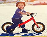 RCIN Draisienne 2 en 1,Coffre LéGer Durable PéDale Kit Enfant VéLo Balance Set avec Frein en Acier Au Carbone SièGe RéGlable pour Les 3-12 Ans GarçOns Filles