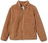 Amazon Essentials Girls' Sherpa Fleece Full-Zip Jackets, Tan, Large