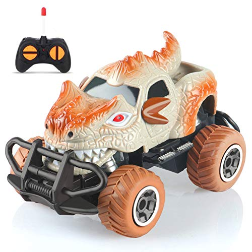 Dinosaur Toys for 3-6 Year Old Boys Remote Control Dinosaur Car with 9mph Max Speed, Remote Control Truck for Boys Toys Age 3-6 Best Gifts Car Toy