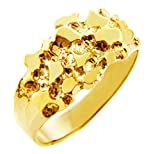 Nugget Rings Men's Gold The Knight Solid Gold (10K) (9)