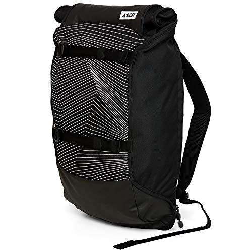 AEVOR Trip Pack - erweiterbarer Rucksack, ergonomisch, Laptopfach, wasserabweisend - Fineline Black - Black