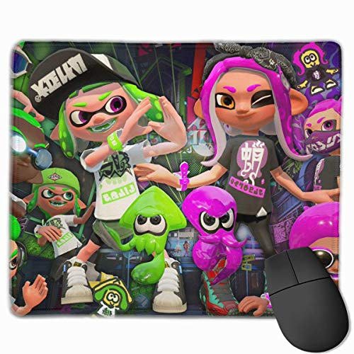 Spla-toon Team Gaming Mouse Pad Classic Computer Mousepad Non-Slip Rubber Mouse Mat for Home Office