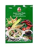 Cock Pasta de Curry Verde Cock, Muy Picante, Cocina Auténtica Tailandesa, Ingredientes Naturales, Vegano, Halal y sin Gluten 50 g