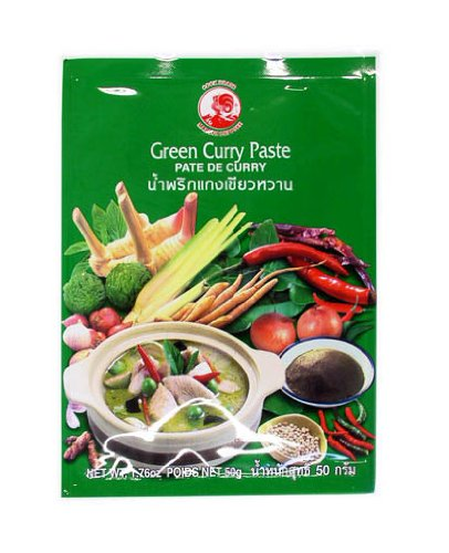 Pasta de curry de gallo, verde, paquete de 6 (paquete de 6 x