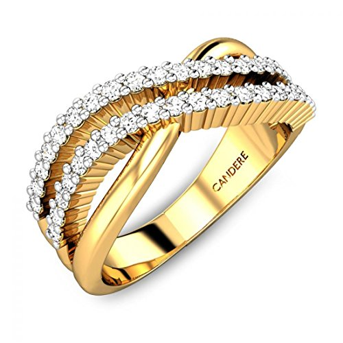 ( 8. ) Candere By Kalyan Jewellers 22KT Yellow Gold Ring for Women