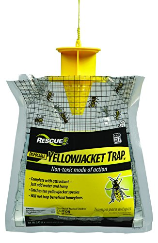 RESCUE! Non-Toxic Disposable Yellowjacket Trap with Attractant – West of the Rockies Formula