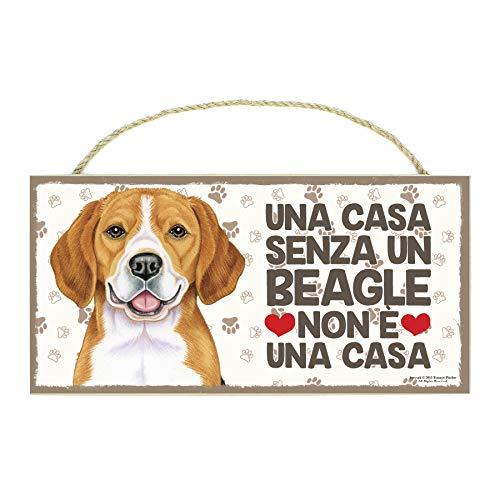 MAXIM BOLZANO SRL Beagle targhetta in Legno da Appendere