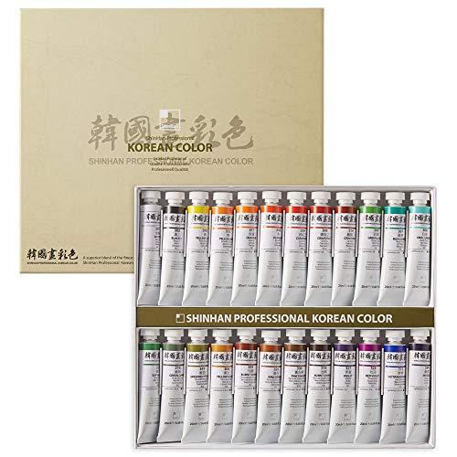 ShinHan Professional Korean Color 20ml Tube 24 Colors Set A
