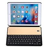 PAN-IT Tastiera Tablet, 2028 for iPad 9.7 (2018) e iPad Air & Air 2 e iPad Pro 9.7 e Nuovo iPad 9.7 pollici (2017) Universale Ultra-sottile PC + PU Flip Case orizzontale + Tastiera Bluetooth (Nero) Ac