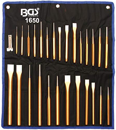 BGS 1650 | Meißel- und Durchschläger-Satz | 28-tlg. | CV-Stahl | Körner | Durchtreiber