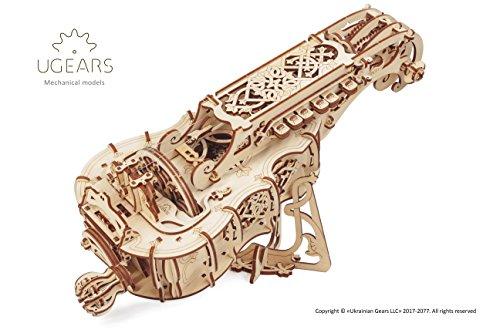 UGEARS 70030, Hurdy-Gurdy, Draailier, 3D-Houtbouwset Zonder Lijm