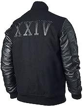 Creed Micheal B Jordan XXIV Kobe Destroyer Black Fleece Jacket with Leather Sleeves