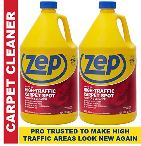 Zep High Traffic Carpet Cleaner 1 Gallon ZUHTC128 (Pack of 2) Professional Formula Removes Deep Stains