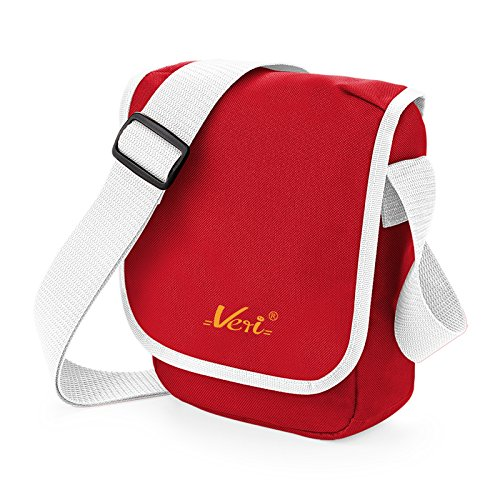 Praktische Umhängetasche für Sie und Ihn! Schultertasche, Reportertasche für Handy, Geldbörse, Kamera.! Mit Veri Logo